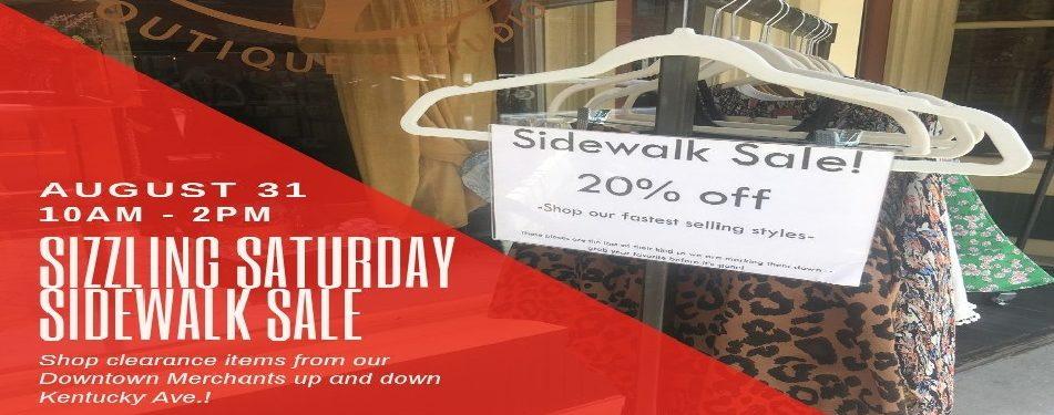 Sizzling Saturday Sidewalk Sale