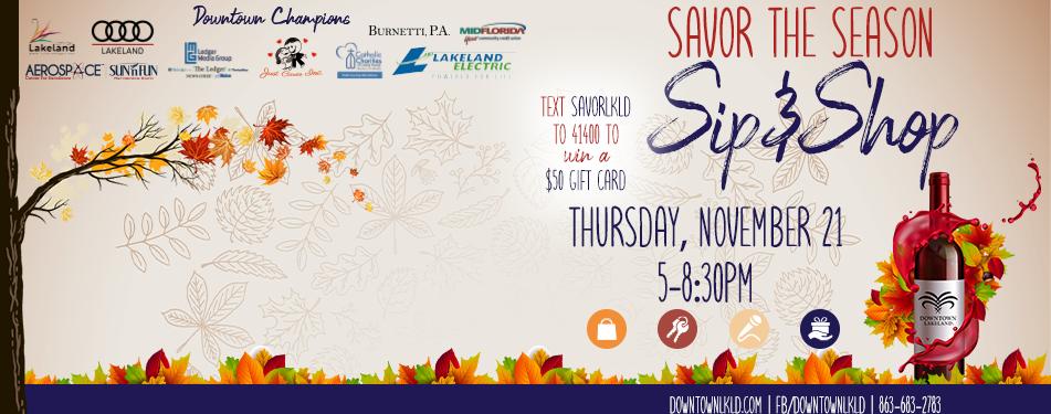 Savor the Season: Sip & Shop
