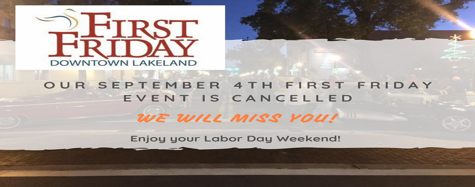 September First Friday Cancelled